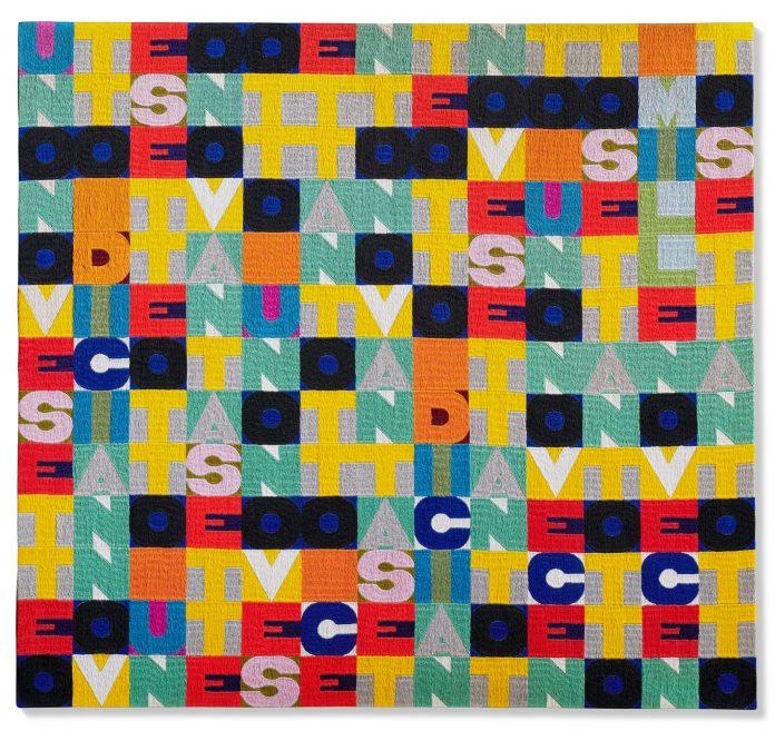 Alighiero Boetti, Senza titolo (Uno nove sette otto), 1978. Christie's, Thinking Italian Milan
