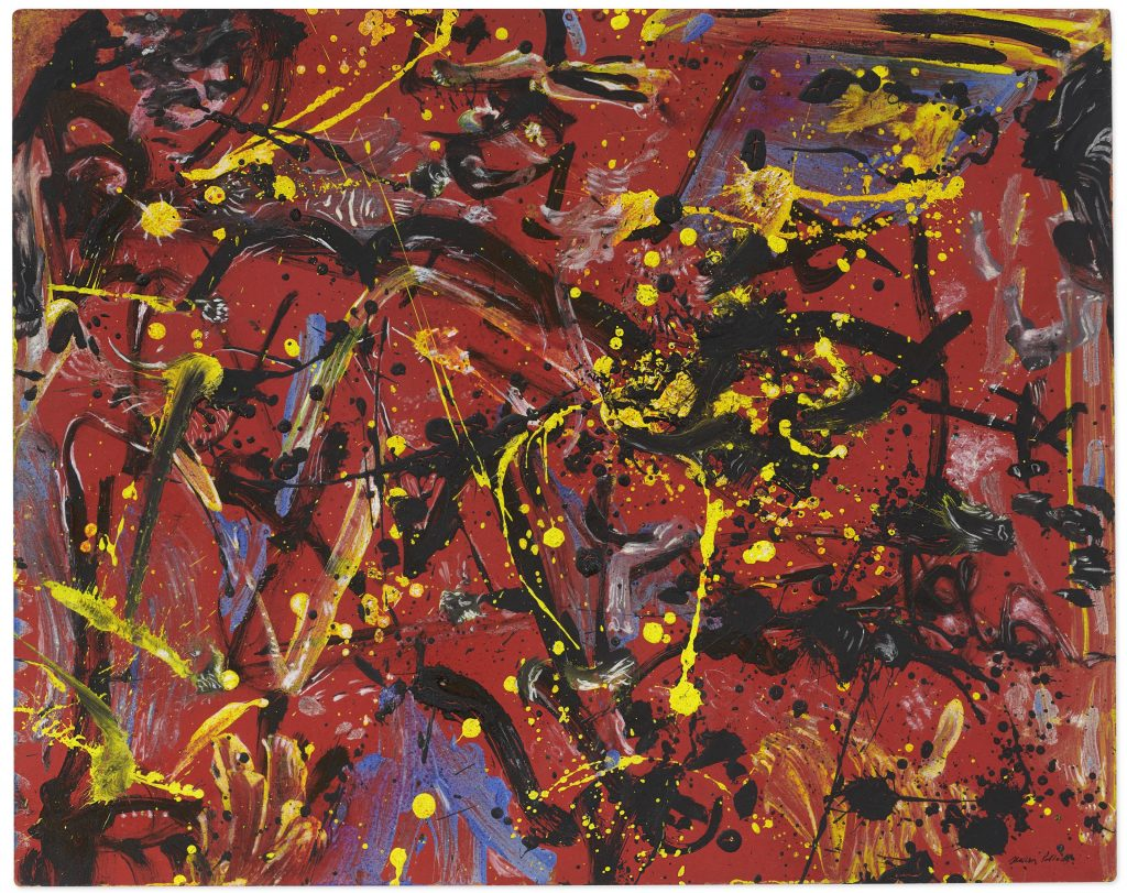 Jackson Pollock, Red Composition. Christie's
