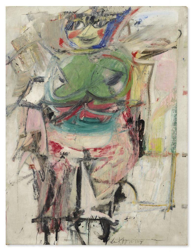 Willem de Kooning, Woman (green). Christie's