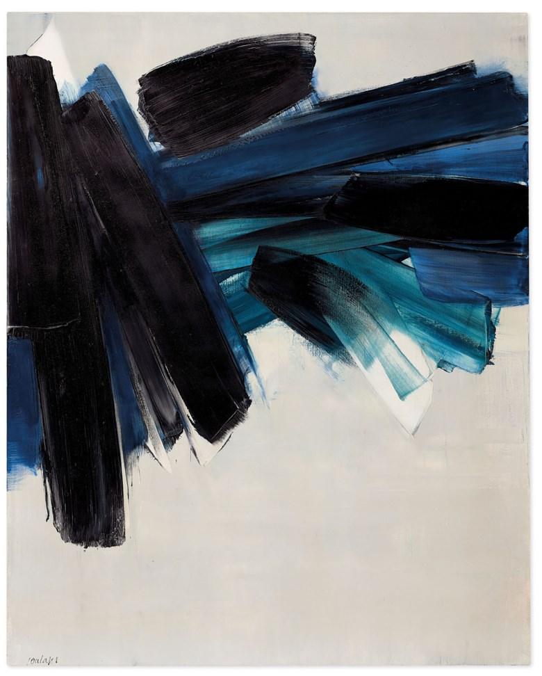 Pierre Soulages, Peinture 162 x 130 cm, 9 luglio 1961 (1961). Christie's © Pierre Soulages, DACS 2020