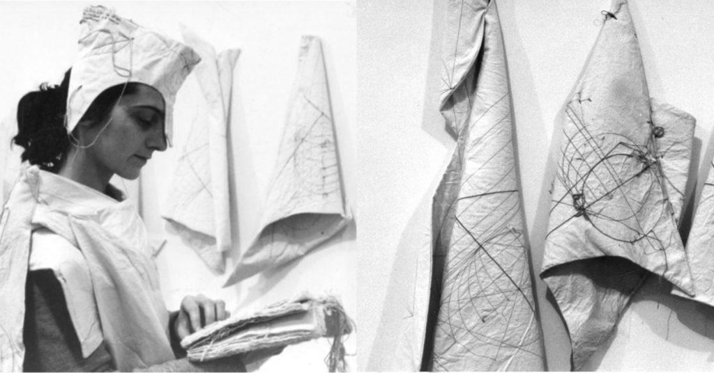 """Maria Lai, la performance """"Col Ciel la Terra"""" presso lo Studio Tommaseo di Trieste (1986)"""