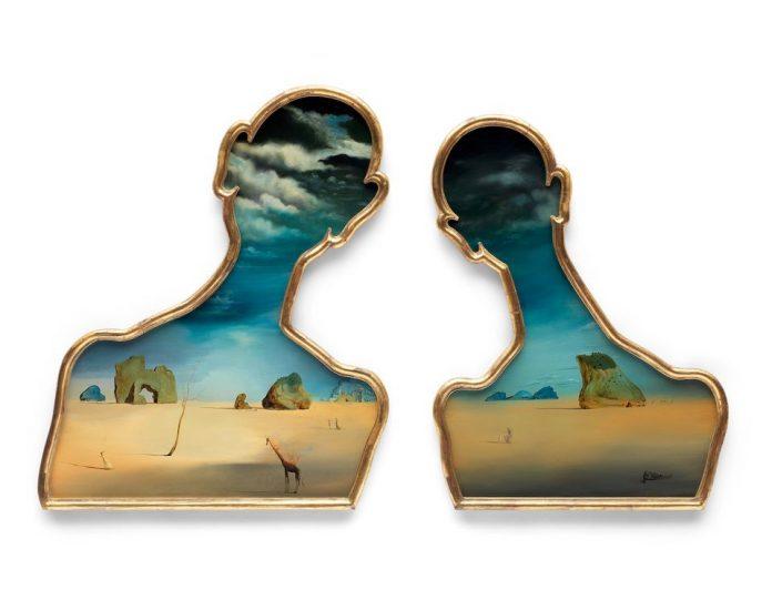 © Bonhams Salvador Dalí (1904-1989), Couple aux têtes pleines de nuages (1937). Stima: £7,000,000 – 10,000,000. 92.5 x 72.5 cm (figura di sinistra) 90 x 70.5 cm (figura di destra)
