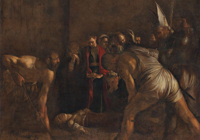 Caravaggio (Milano, 1571 - Porto Ercole, GR, 1610).Seppellimento di Santa Lucia, 1608 ca