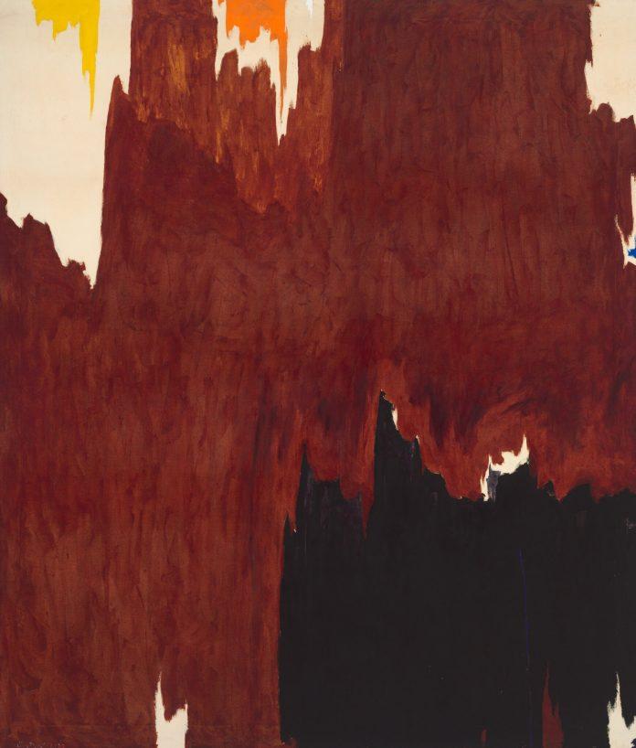 Clyfford Still, 1957-G (1957). Una delle due opere ritirate dall'asta di Sotheby's