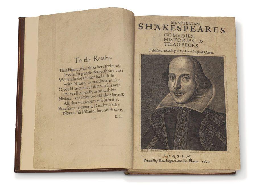 William Shakespeare, Comedies, Histories, & Tragedies. Nuovo record all' Exceptional Sale del 14 ottobre da Christie's a New York