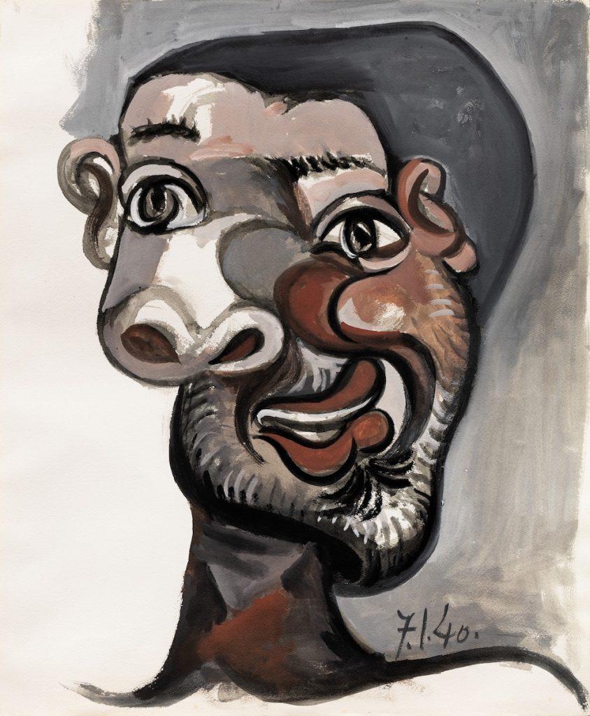 Pablo Picasso, Tête d'homme (1940). Sotheby's