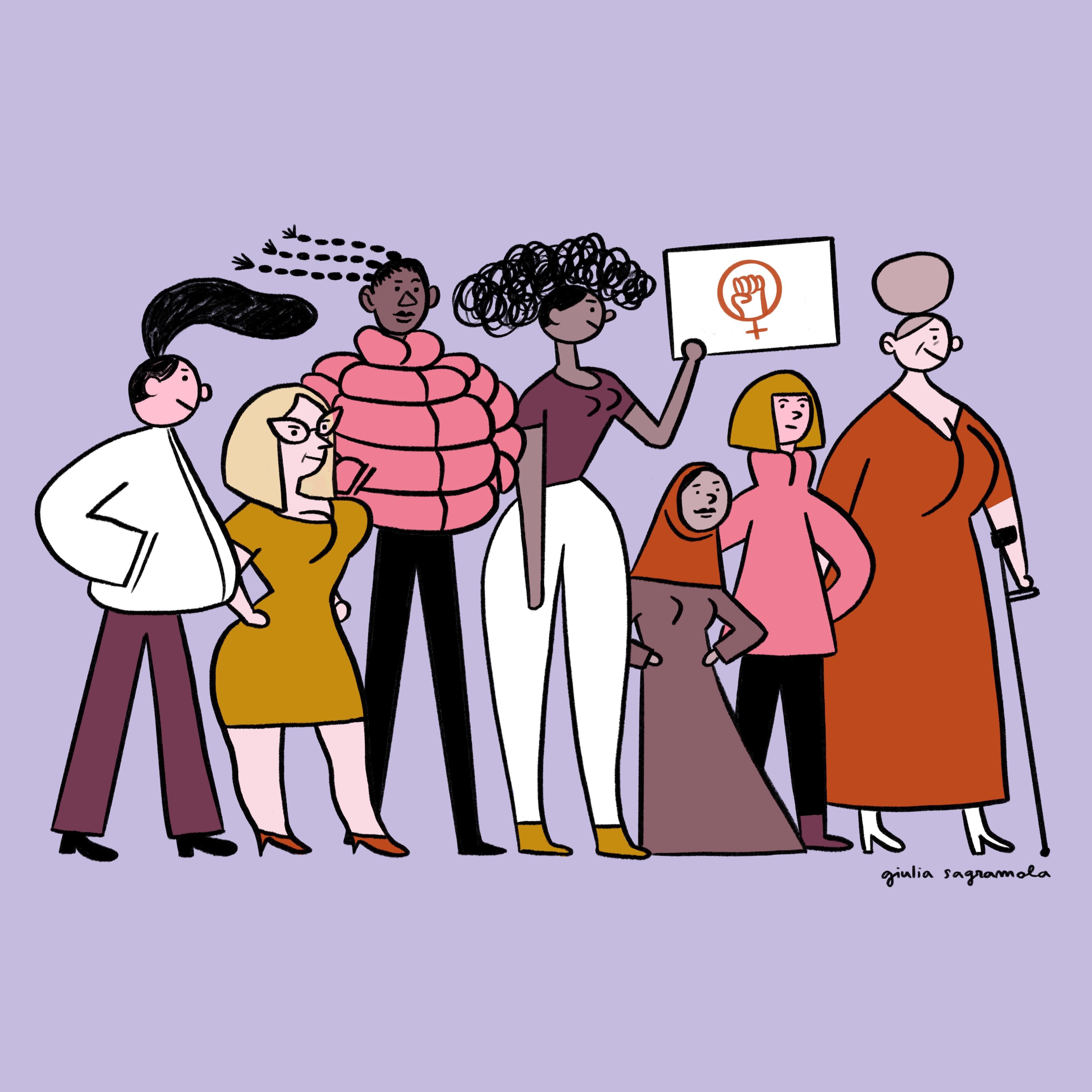 Tra le MOLESTE del fumetto c'è anche lei, Giulia Sagramola. Qui un suo lavoro, Women Rights.