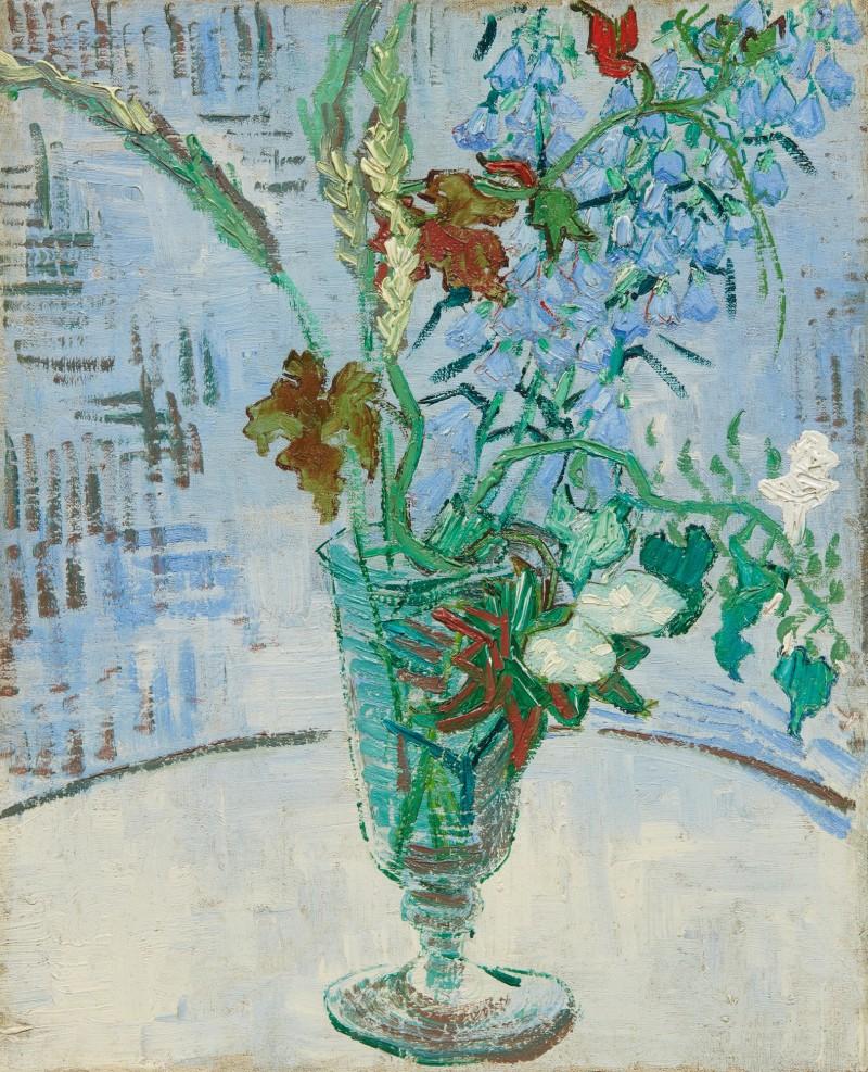 Vincent van Gogh,Fleurs dans un verre (1890). Sotheby's