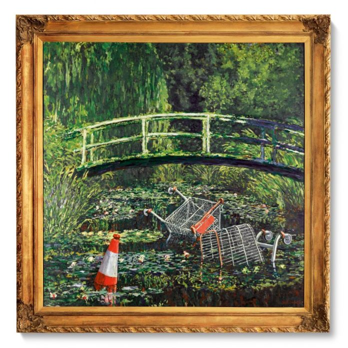 Banksy, Show Me The Monet (2005). Sotheby's