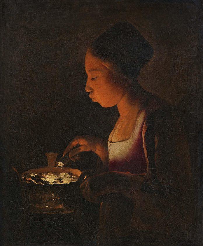Georges de La Tour, La fillette au brasero (1646-1648). Lempertz