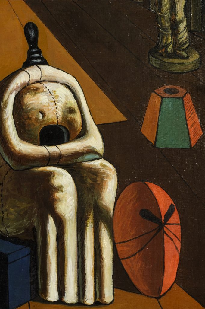Giorgio de Chirico, Le muse inquietanti, dettaglio. Wannenes