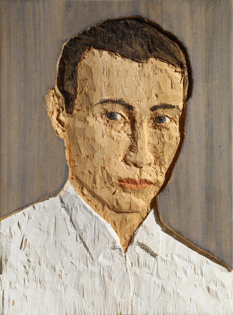 Stephan Balkenhol, Kopfrelief, 2008. Blindarte