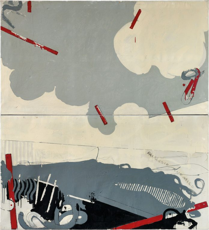 Mario Schifano, Paesaggio anemico I, 1964. Christie's, Thinking Italian Milan