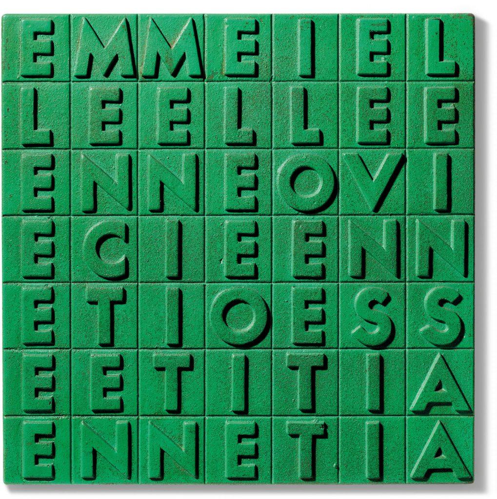Alighiero Boetti, EMME I ELLE ELLE E (1970). Christie's, Thinking Italian Milan