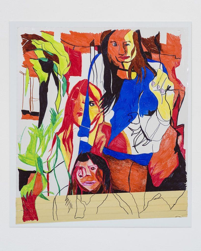 KEREN CYTTER Untitled 2017 Pennarello su pellicola riflettente, autoadesiva, a specchio in Mylar 38.1 x 50.8 cm Courtesy dell'artista e Pilar Corrias, Londra. Artissima XYZ