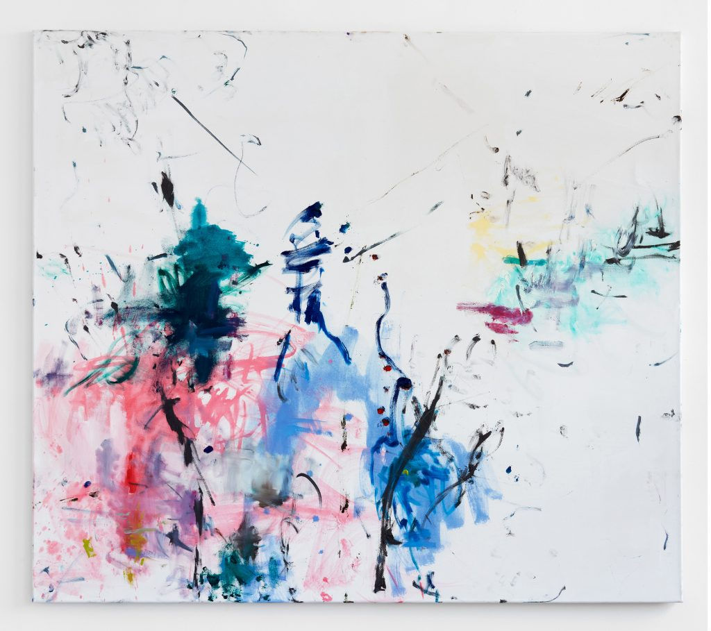 HEIKE-KARIN FÖLL not providing a straight definition 2019 Olio e inchiostro su tela 160 x 140 cm Courtesy dell'artista e Campoli Presti, Londra, Parigi. Artissima XYZ