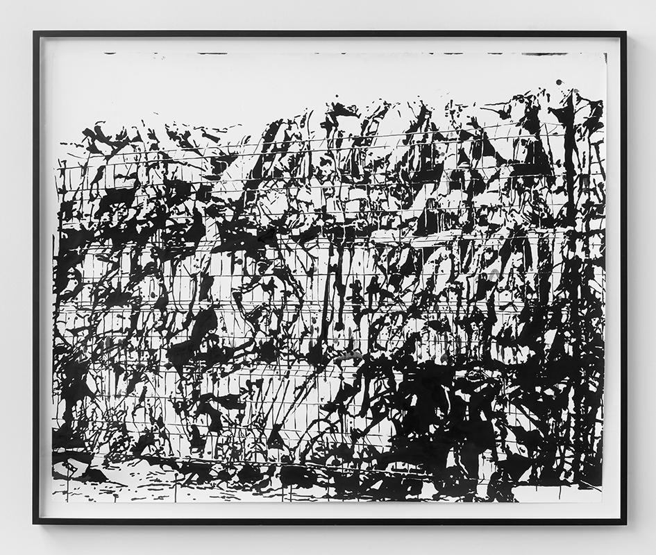 MONICA BONVICINI Hurricanes and Other Catastrophes #25 2009 Tempera su carta Fabriano, con cornice 150 x 184.5 cm senza cornice, 163.5 x 197.5 x 7 cm con cornice Unico Courtesy dell'artista e König, Berlino. Artissima XYZ