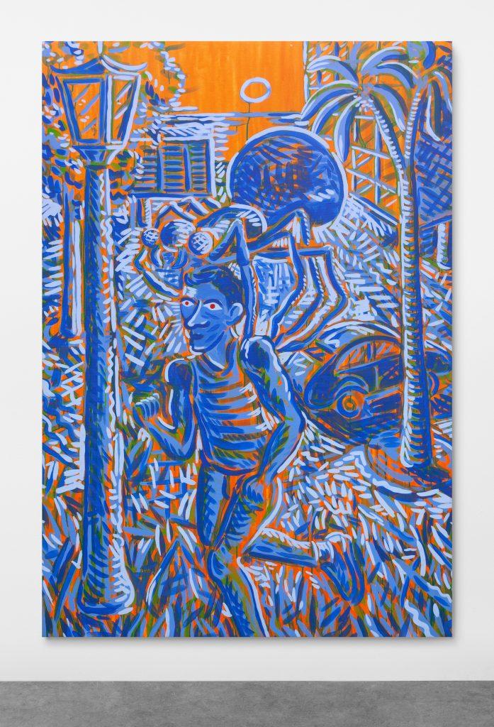 LUÍS LÁZARO MATOS The Fictional Passengers #7 2019 Acrilico su tela 220 × 150 cm Courtesy Madragoa, Lisbona. Artissima XYZ