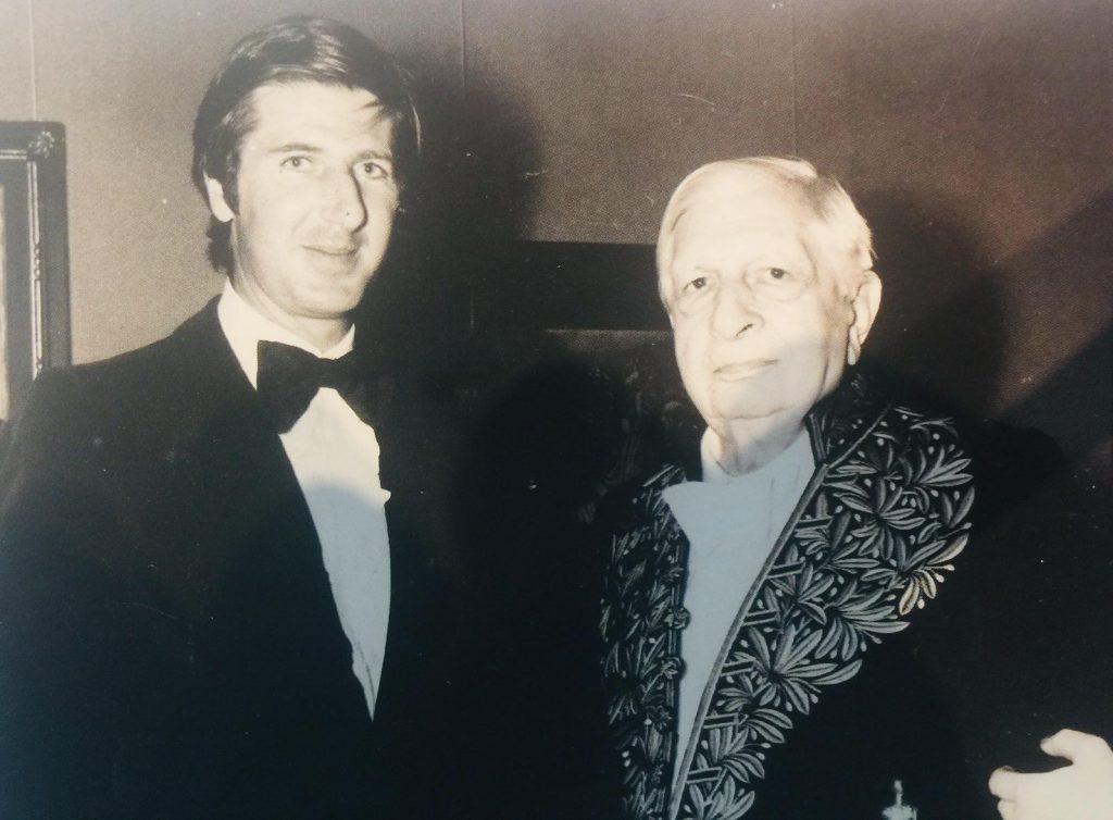 Tony Porcella con De Chirico