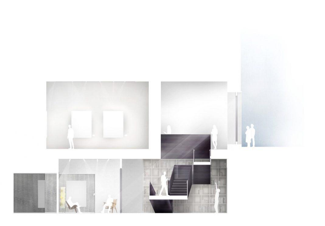 Render nuova sede di Pace Gallery a Londra