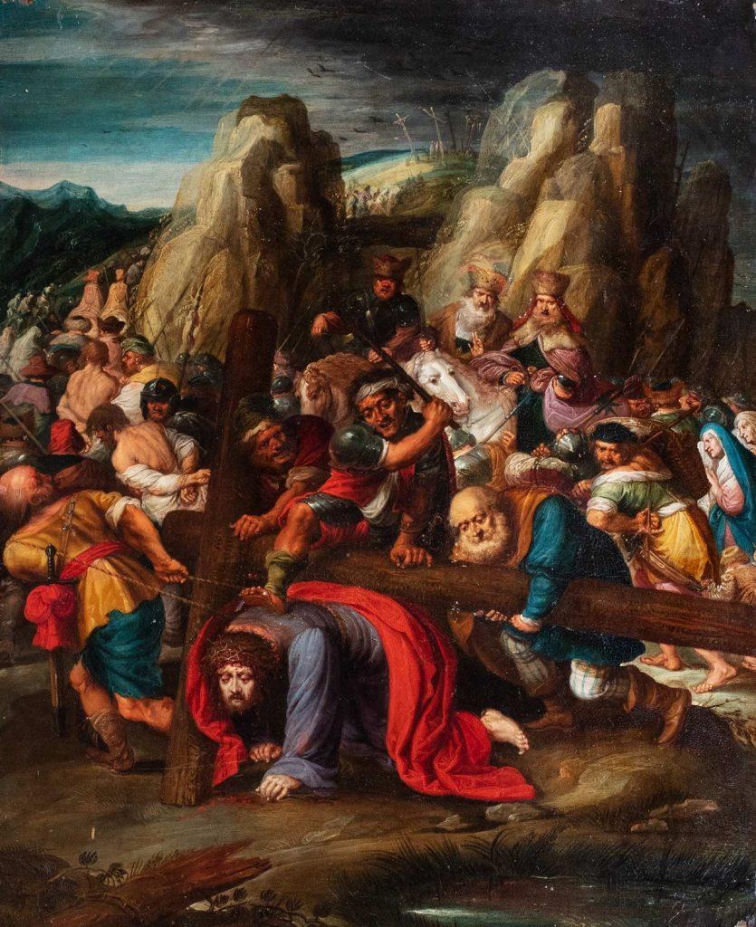 Frans Francken II, Caduta di Cristo al Calvario. Finarte