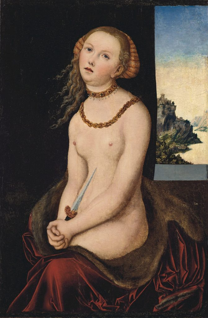 Lucas Cranach il Vecchio, Lucretia. Deaccessioning