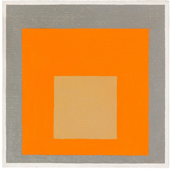Josef Albers, Study to Homage to the Square: reddish in orange with gray (1959). Sotheby's