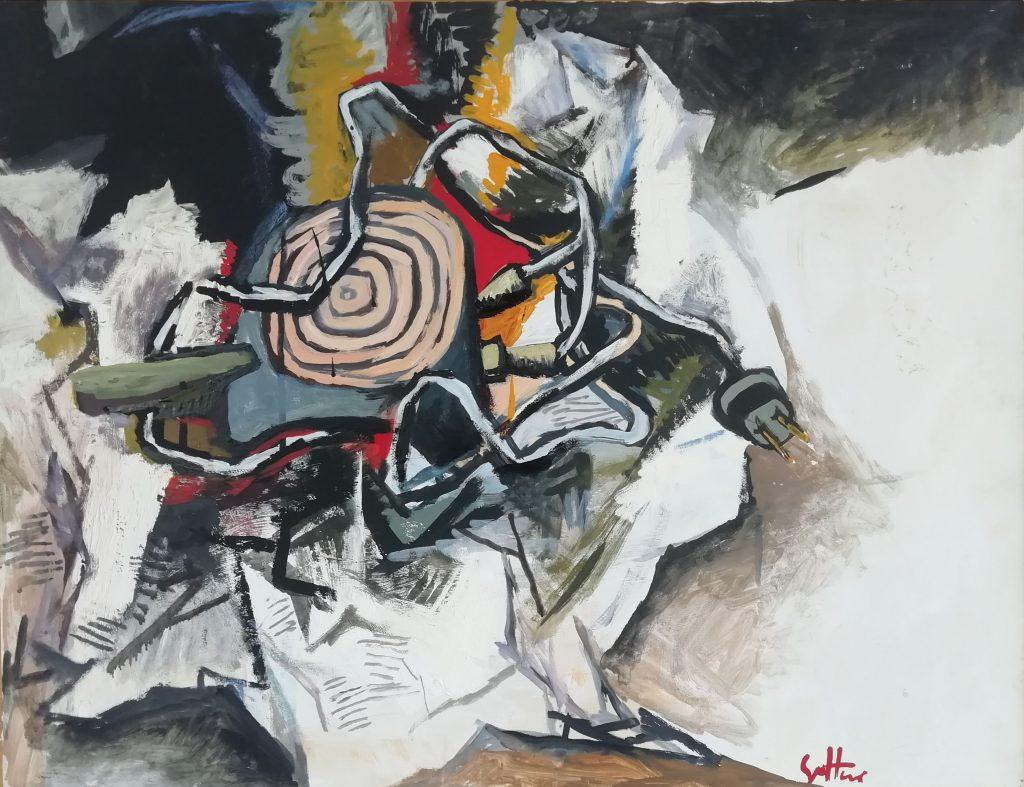 Renato Guttuso, Natura morta con fornello elettrico. Galleria de Bonis. Digital Black, ArtVerona