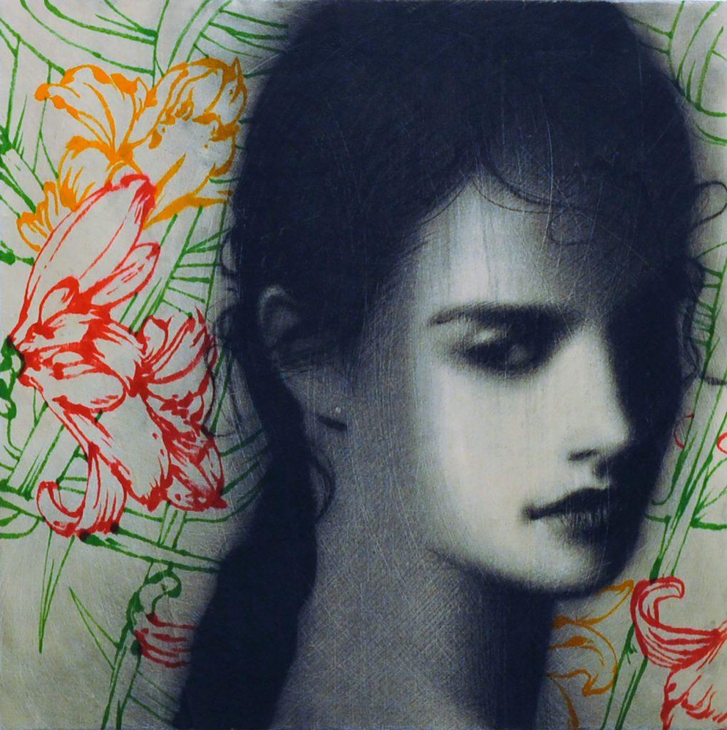 Omar Galliani, Floralia. Galleria Vigato. Digital Black, ArtVerona