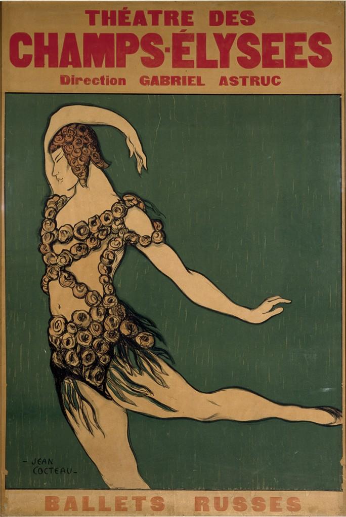 JEAN COCTEAU, BALLETS RUSSES, 1913 (COCTEAU / 2020, PROLITTERIS, ZURICH) ©VICTORIA & ALBERT MUSEUM, LOND
