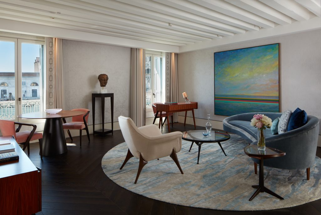 Monet Suite Living Room. Courtesy of The St. Regis Venice