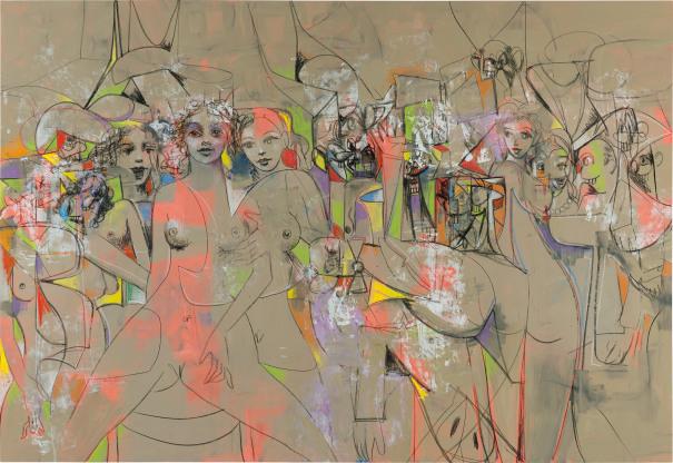 George Condo, Transparent Female Forms (2009). Phillips