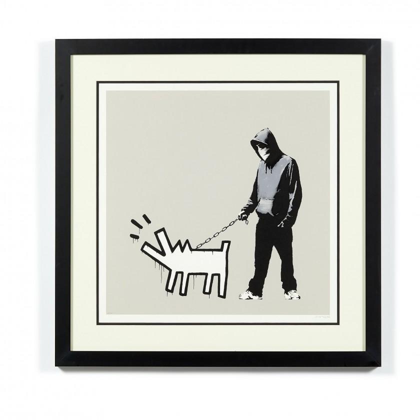BANKSY, Choose you weapon (Queue Jumping Grey) - 2010. Artcurial