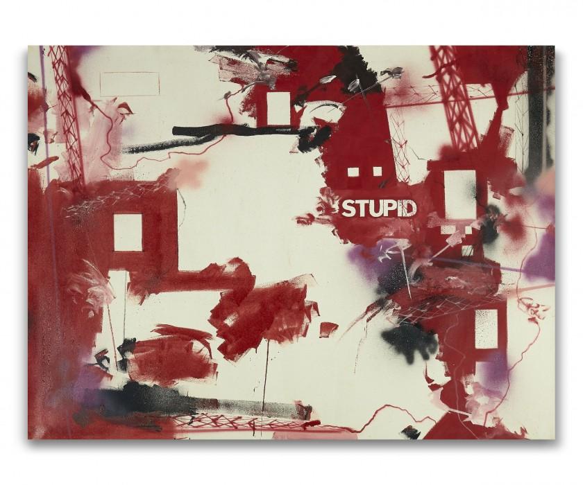 Futura 2000, Stupid - 1990. Artcurial Street Art