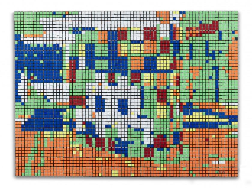 INVADER, Rubik Space - 2005. Artcurial Street Art