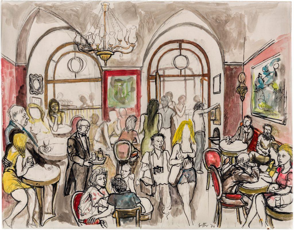 Renato Guttuso, Studio per il Caffè Greco (1976). Art-Rite