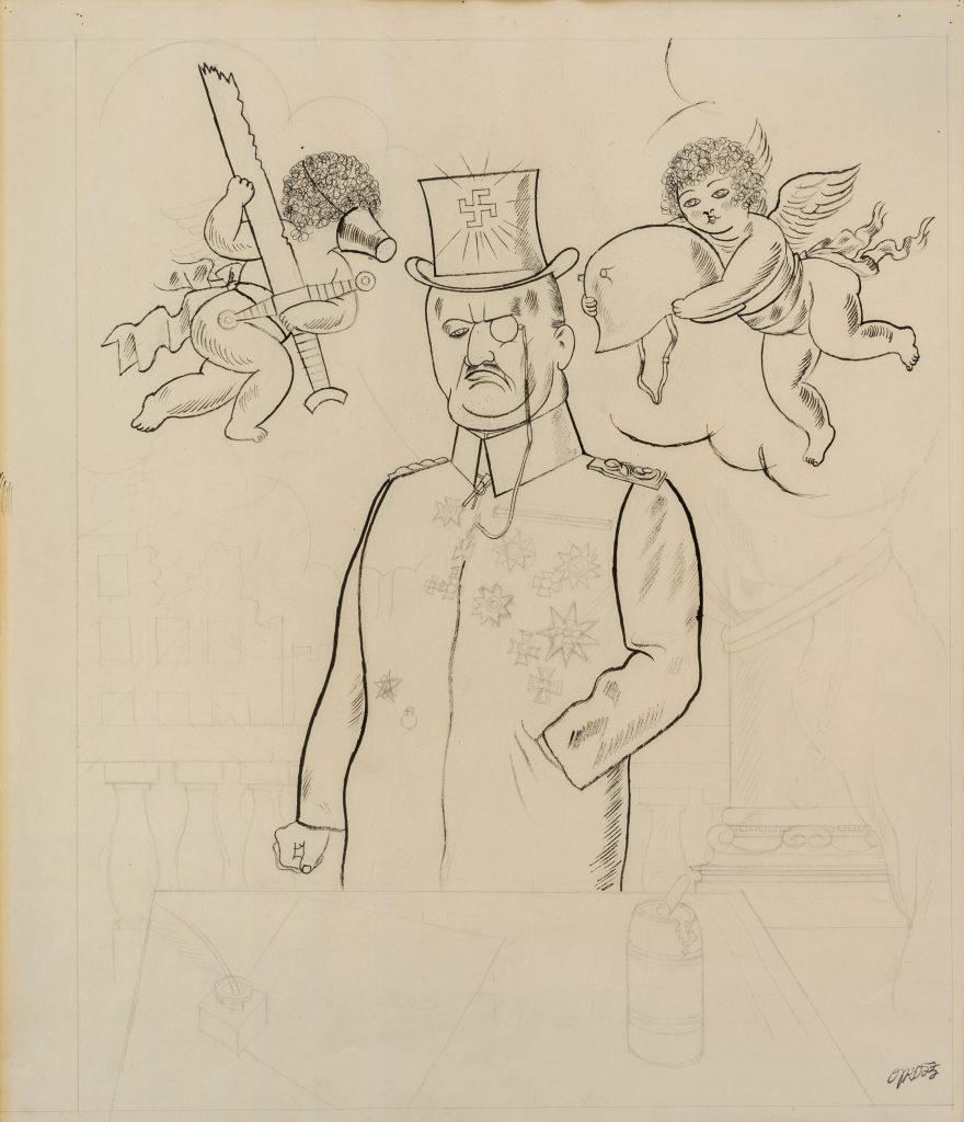 George Grosz, Ein Hakenkreuzritter (1920). Art-Rite