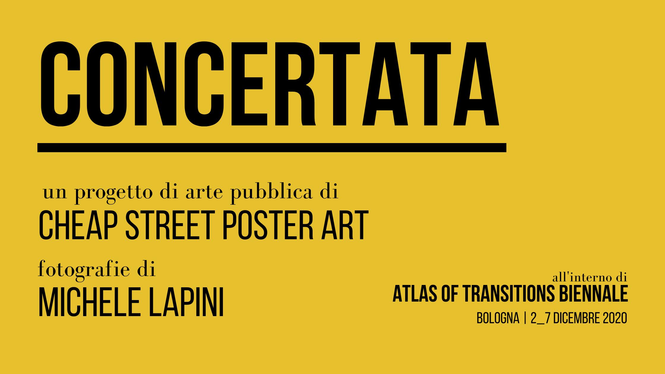 Concertata è il nuovo progetto di Cheap, all'interno del festival Atlas of Transitions (courtesy: Cheap).
