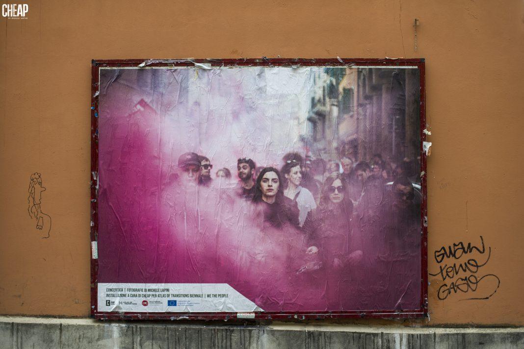 Gli scatti di Michele Lapini trovano spazio per le strade di Bologna grazie a Cheap (Courtesy: Cheap - Ph: Michele Lapini).