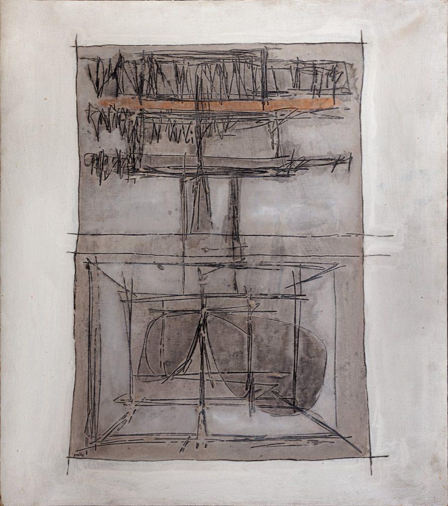 Achille Perilli, La profezia suicida (1961). Finarte contemporanea
