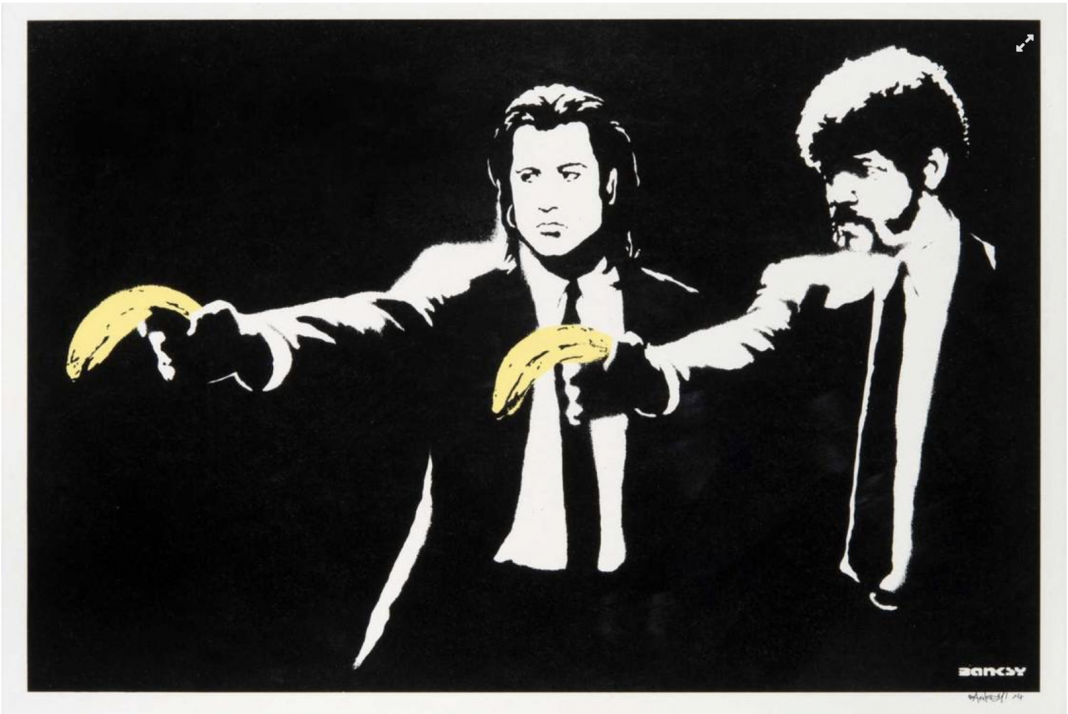 Pulp Fiction di Banksy