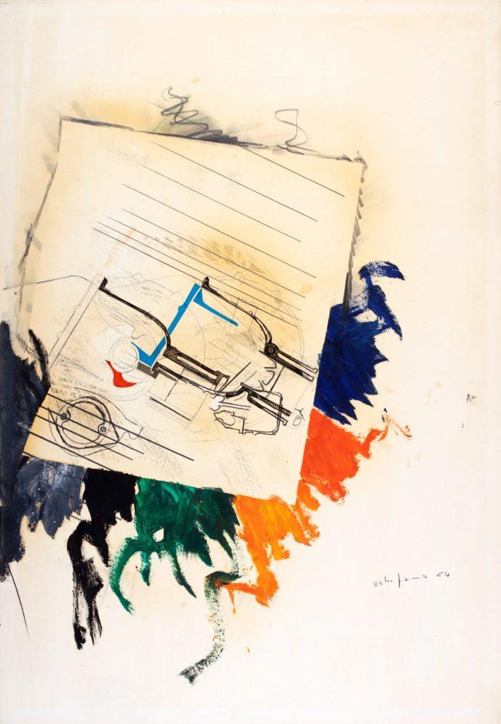 Mario Schifano, Senza titolo (1964). Finarte contemporanea