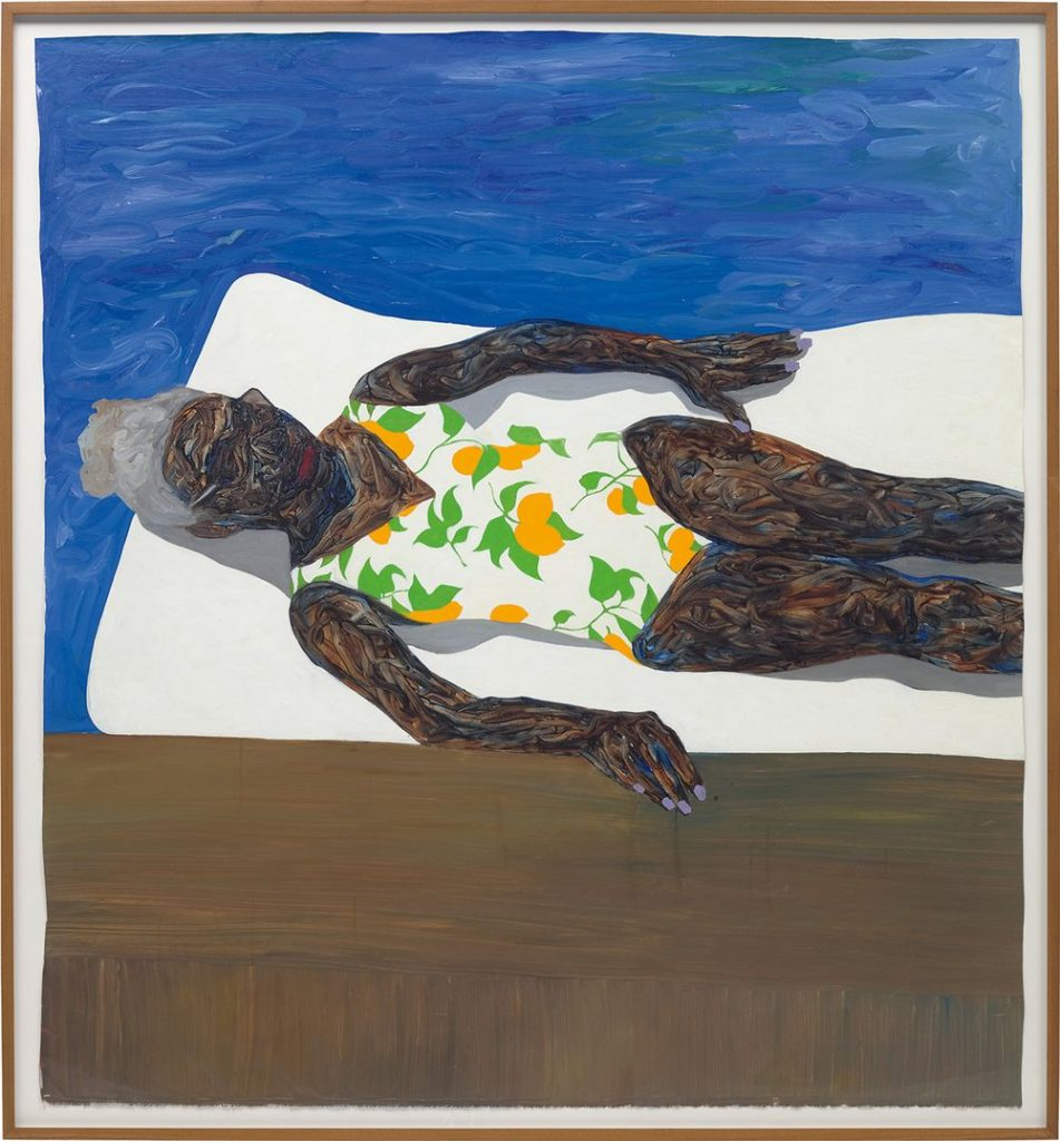 Amoako Boafo, The Lemon Bathing Suit, 2019. Phillips