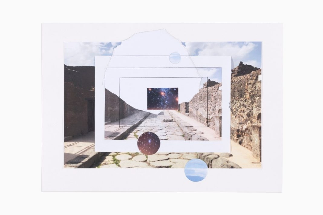 Giulio Paolini, Senza titolo (Pompei), 2020, matita e collage su carta, 35 x 50 cm. © Giulio Paolini. Photo Luca Vianello, Torino. Courtesy Fondazione Giulio e Anna Paolini, Torino