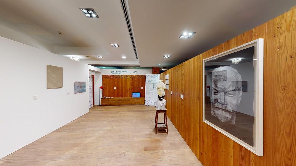 Installation view Chalet de l'Ange Courmayeur, 2020 Photo courtesy: © Alessia Baranzini / Artland per Artissima e Jaguar Italia