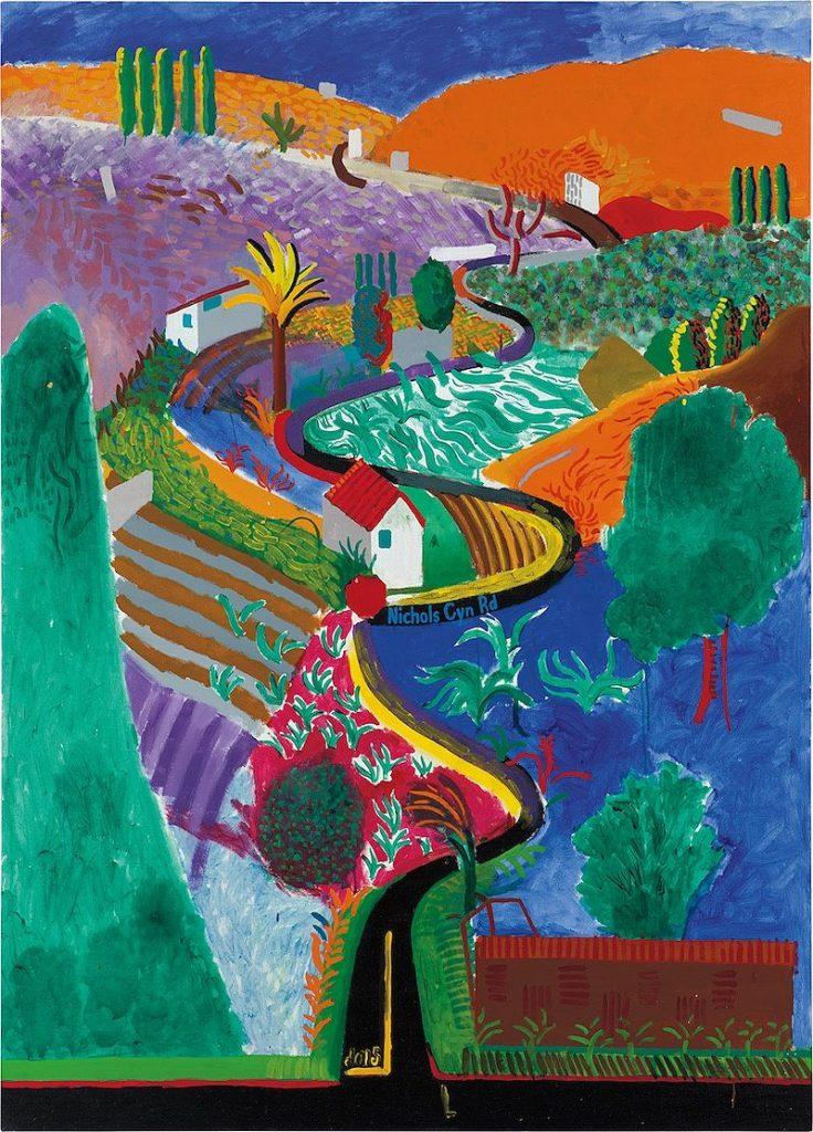 David Hockney, Nichols Canyon (1980). Phillips