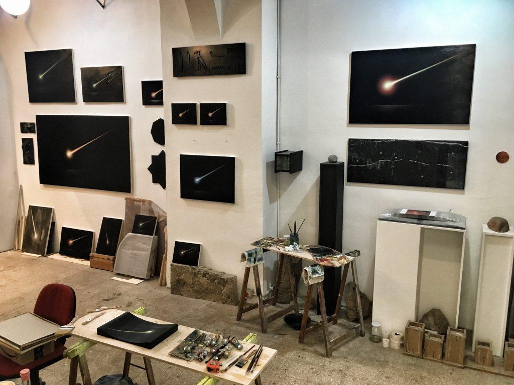 Lo studio di Leonardo Petrucci al Pastificio Cerere