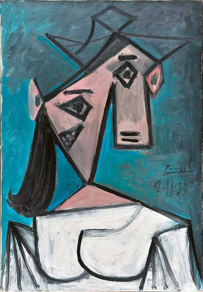 Head of a Woman, Pablo Picasso, courtesy Galleria Nazionale di Atene
