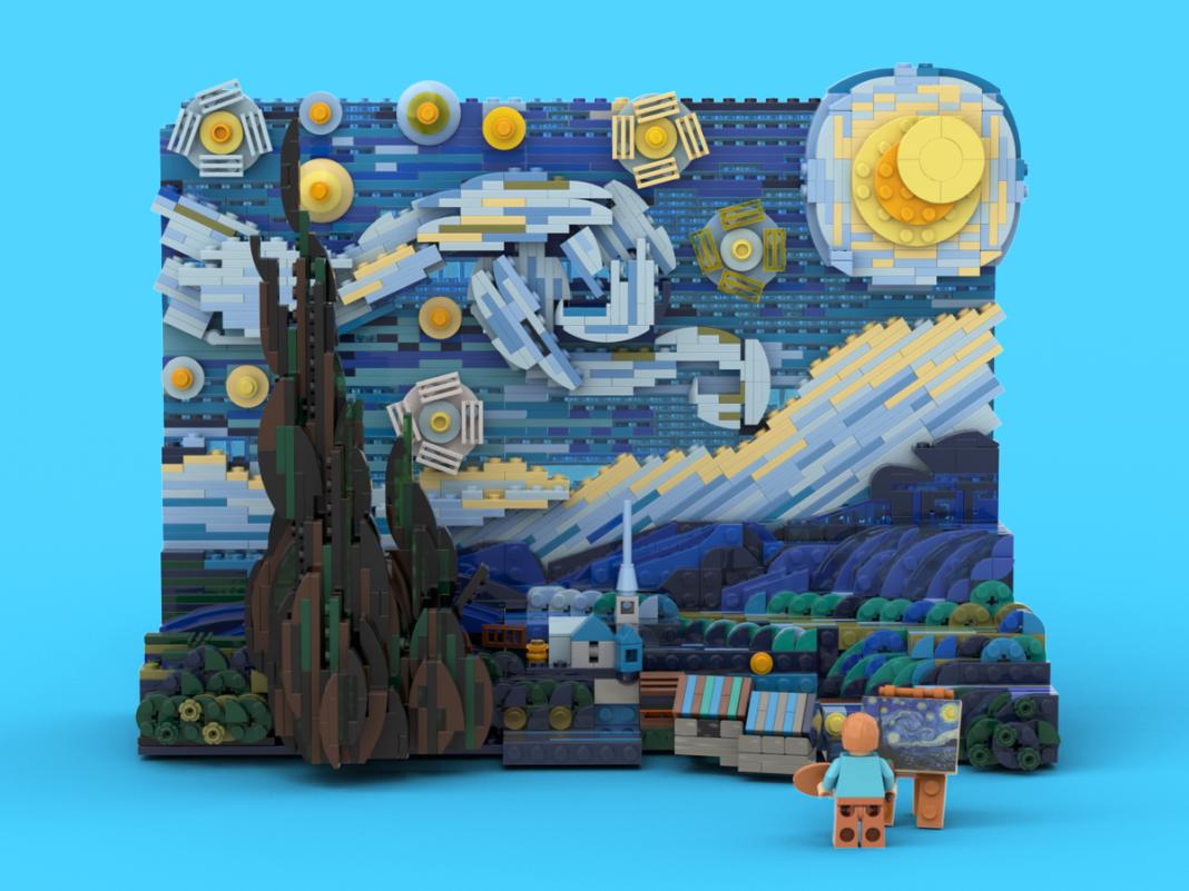 van gogh starry night LEGO