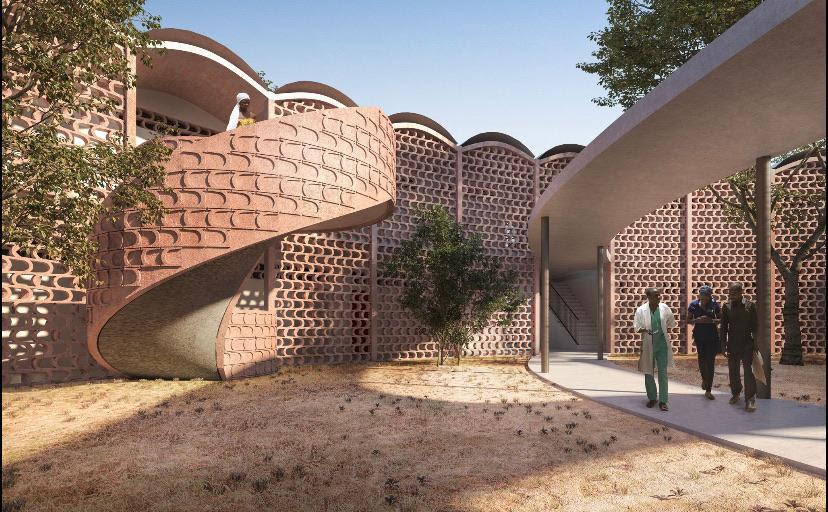 Il nuovo ospedale di TAMBACOUNDA realizzato da Manuel Herz